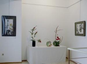 Durante la exposición Pintura japonesa sumi-e