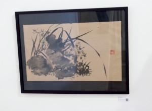 Orquídea silvestre -  Pintura Japonesa Sumi-e