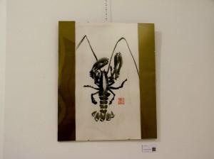 Langosta -  Pintura Japonesa Sumi-e