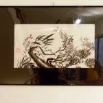 (Vendido) Tres amigos de invierno  -  Pintura Japonesa Sumi-e